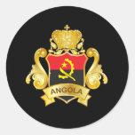Oro Angola Pegatina Redonda