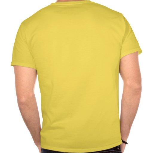 """Oro anormal """"trabajo de la aptitud su extremo"""" de t-shirt"""