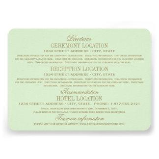 Oro antiguo de las tarjetas de información del bod invitacion personalizada