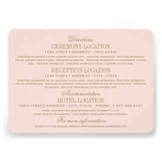 Oro antiguo de las tarjetas de información del bod invitación personalizada