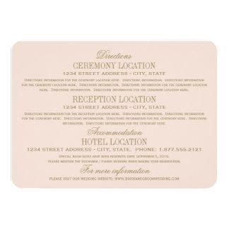 Oro antiguo de las tarjetas de información del invitación 11,4 x 15,8 cm
