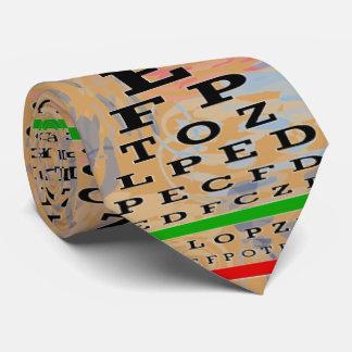Oro artsy del optometrista de la carta de ojo corbata personalizada