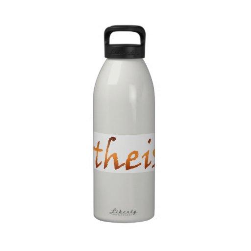 Oro ateo botellas de agua reutilizables