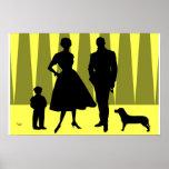 Oro atómico de la familia póster