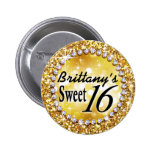 Oro atractivo brite de la celebración del dulce 16 pins