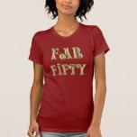 Oro atractivo cincuenta fabulosos camiseta