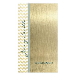 Oro atractivo elegante profesional del galón tarjetas de visita