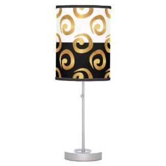 Oro atractivo en Colorblock blanco y negro Lámpara De Mesilla De Noche