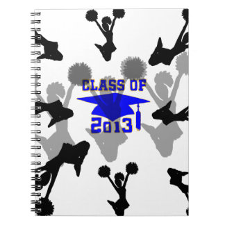 Oro azul claro 2013 de la animadora libro de apuntes con espiral
