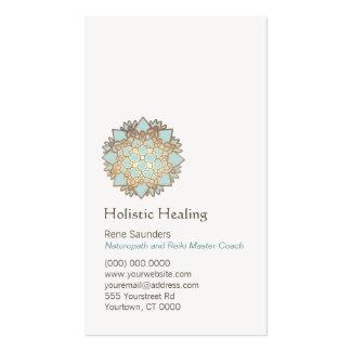 Oro azul salud holística y natural de Lotus Tarjetas De Visita