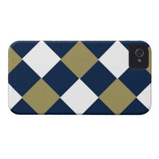 Oro azul y caja blanca de Blackberry iPhone 4 Case-Mate Cárcasas