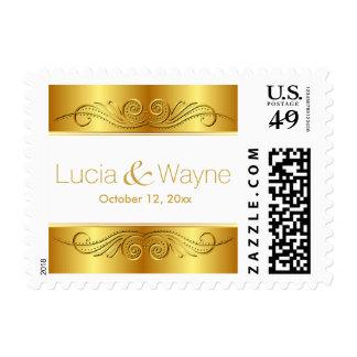 Oro barroco y blanco del capítulo el | de la sello postal