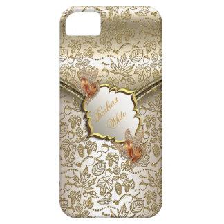 Oro beige B ambarino de la crema del caramelo del iPhone 5 Carcasas