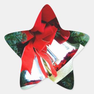 Oro Belces de diciembre Pegatina En Forma De Estrella