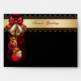 Oro Belces rojas y sobres negros del día de fiesta
