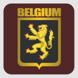 """Oro belga "" Pegatina Cuadrada"