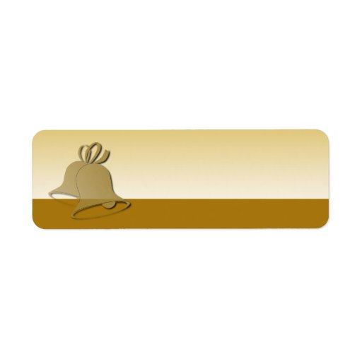 Oro Bell de la etiqueta del día de fiesta Etiquetas De Remite