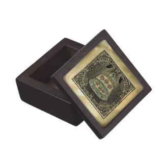 Oro Bell Jeweled afiligranada Cajas De Recuerdo De Calidad