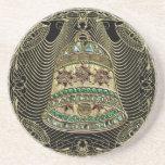 Oro Bell Jeweled afiligranada Posavasos Personalizados
