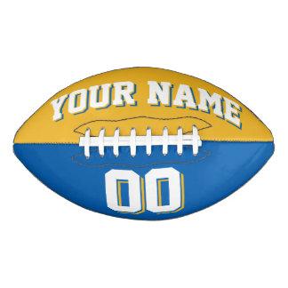 Oro BICOLOR y fútbol de encargo azul Balón De Fútbol Americano