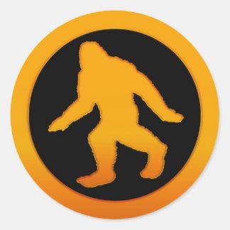 Oro Bigfoot Etiquetas Redondas