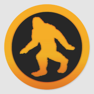 Oro Bigfoot Pegatina Redonda
