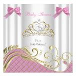 Oro blanco 3 del pequeño de la princesa fiesta de  comunicado personalizado