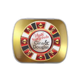 Oro blanco negro rojo del favor del microprocesado latas de dulces