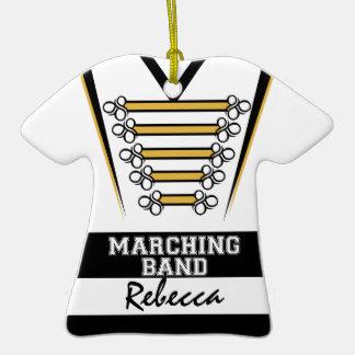 Oro blanco negro uniforme de la banda ornamento para arbol de navidad