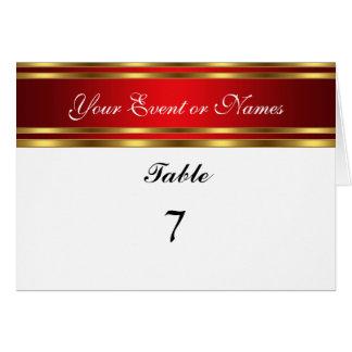Oro blanco rojo de la tarjeta del fiesta de la sen