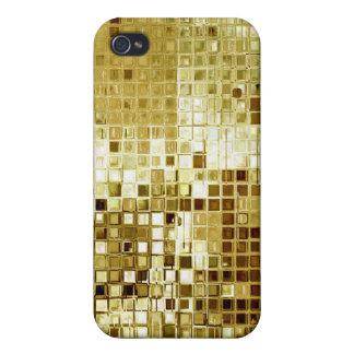 Oro Bling y caso del iPhone 4 de la mirada de las  iPhone 4/4S Carcasas