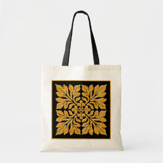 Oro brillante brillante de la teja inglesa antigua bolsas de mano