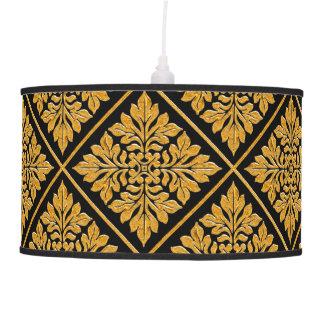 Oro brillante brillante de la teja inglesa antigua lámpara de techo