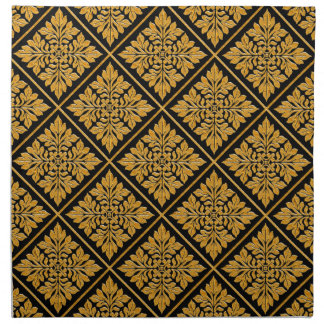 Oro brillante brillante de la teja inglesa antigua servilleta