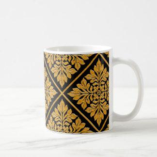 Oro brillante brillante de la teja inglesa antigua taza de café