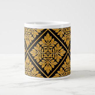Oro brillante brillante de la teja inglesa antigua taza de café grande