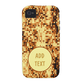 Oro brillante tejado vibe iPhone 4 fundas