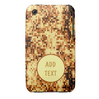 Oro brillante tejado Case-Mate iPhone 3 protectores
