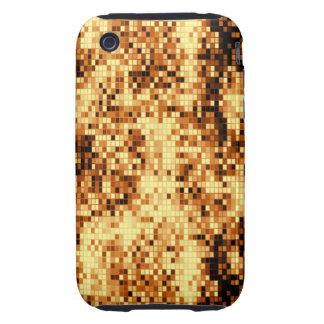 Oro brillante tejado iPhone 3 tough cárcasas