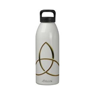 Oro brillante Triquetra Botella De Beber