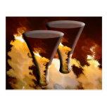 Oro Brown de las velas de los vidrios de la bebida Postales