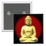 Oro Buda en rojo Pin