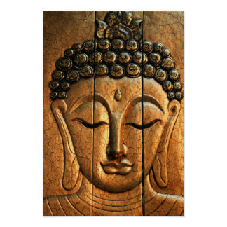 Oro Buda metálico Póster