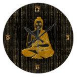 oro Buda Reloj Redondo Grande