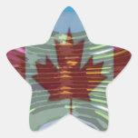 Oro canadiense MapleLeaf - éxito en diversidad Calcomanías Forma De Estrellas Personalizadas