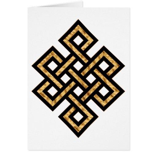 Oro céltico del nudo 10 tarjeta de felicitación