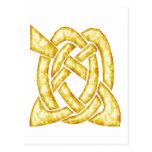 Oro céltico del nudo 6 postal