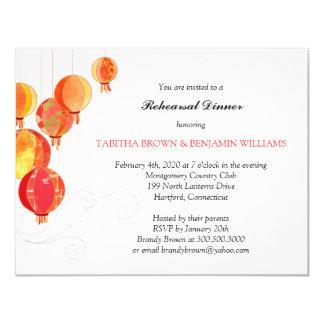 Oro + Cena elegante roja del ensayo de las Invitacion Personal