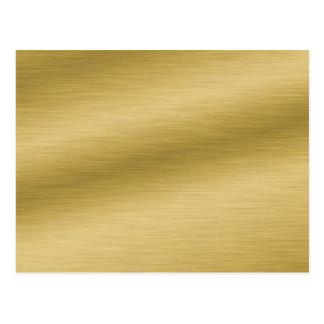Oro cepillado elegante postal