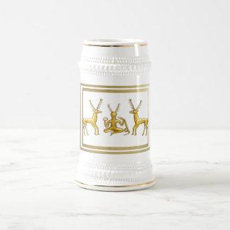 Oro Cernunnos, ciervos y marcos - Stein Jarra De Cerveza